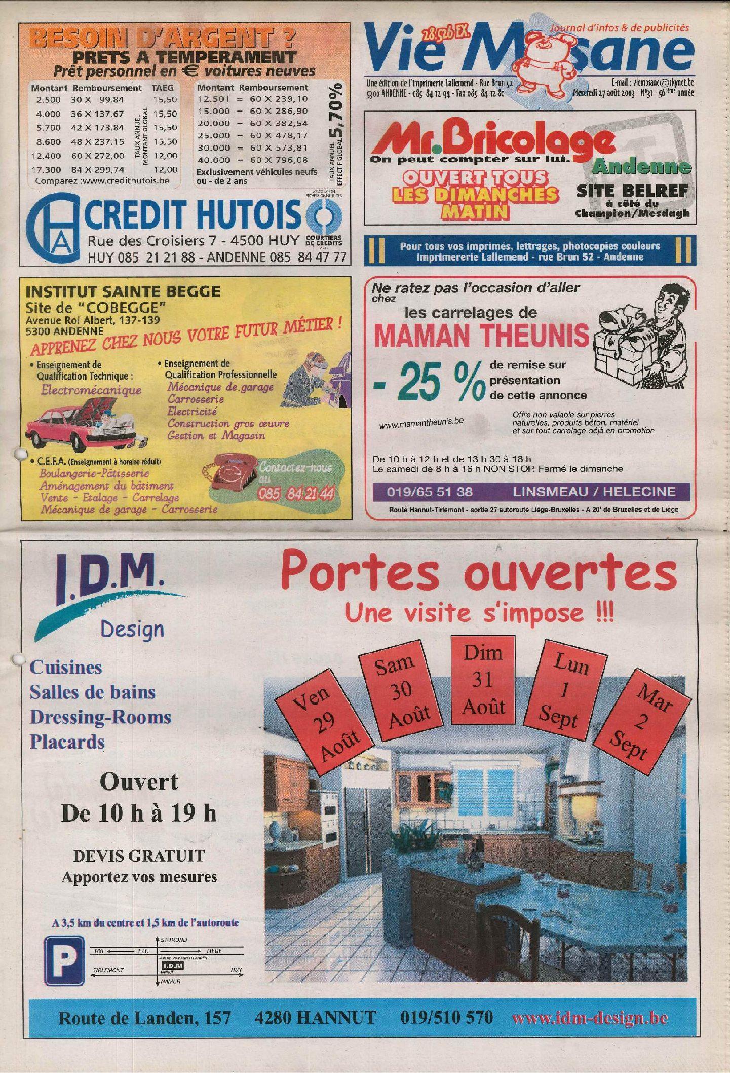 57e année - n°31 - 27 août 2003