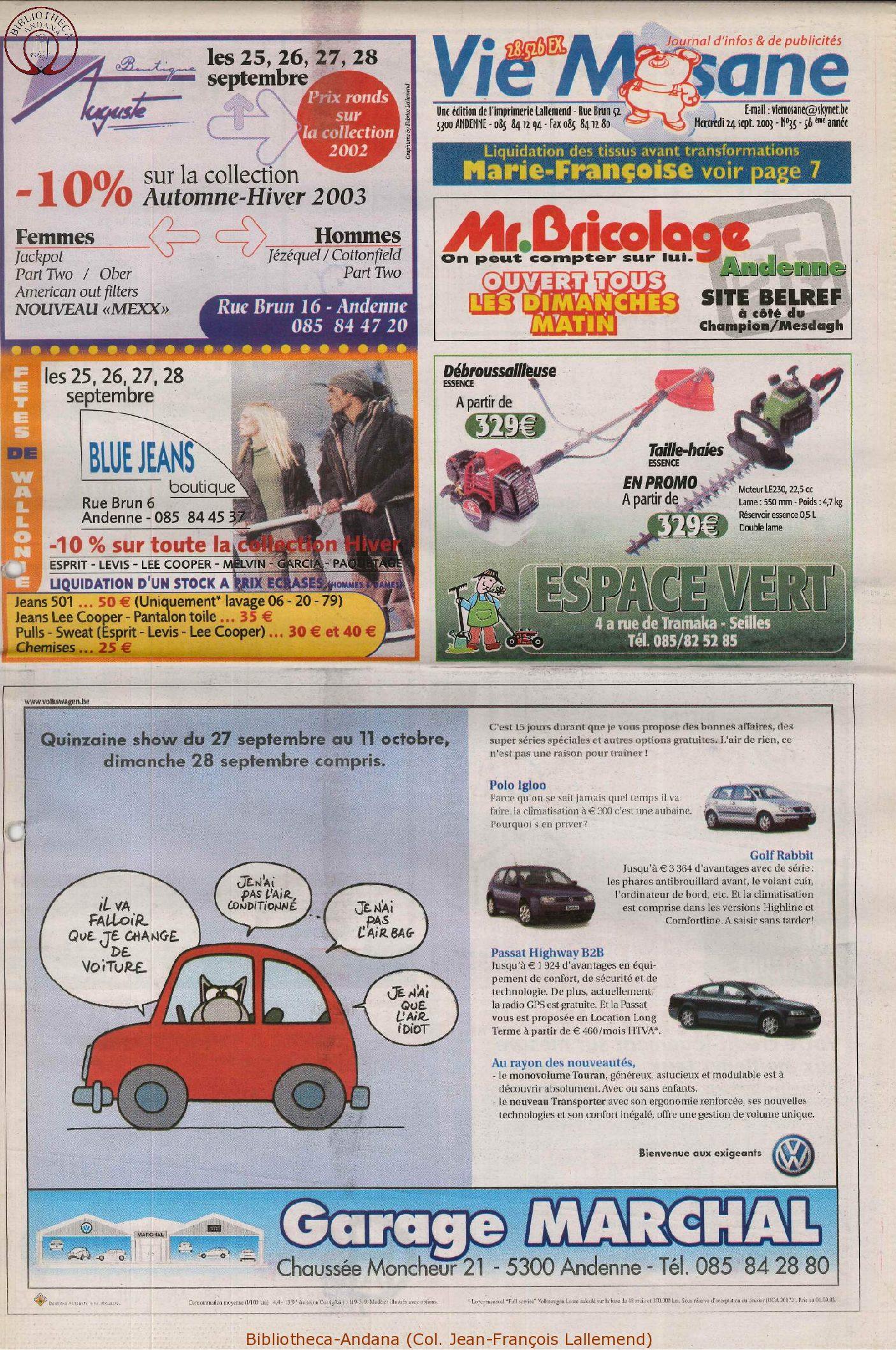 57e année - n°35 - 24 septembre 2003