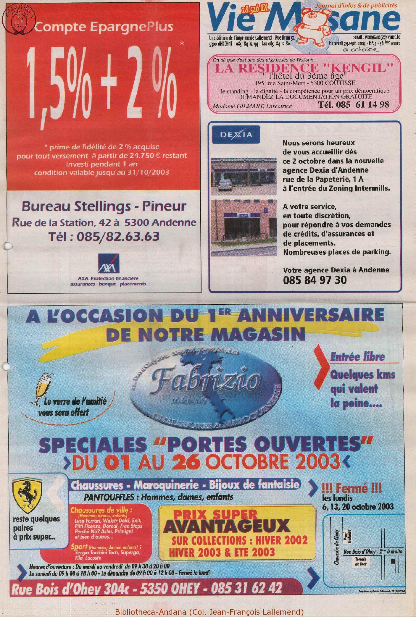 57e année - n°36 - 1er octobre 2003