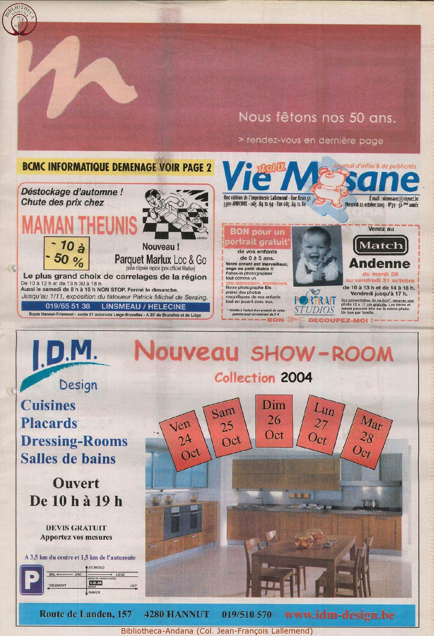 57e année - n°39 - 22 octobre 2003