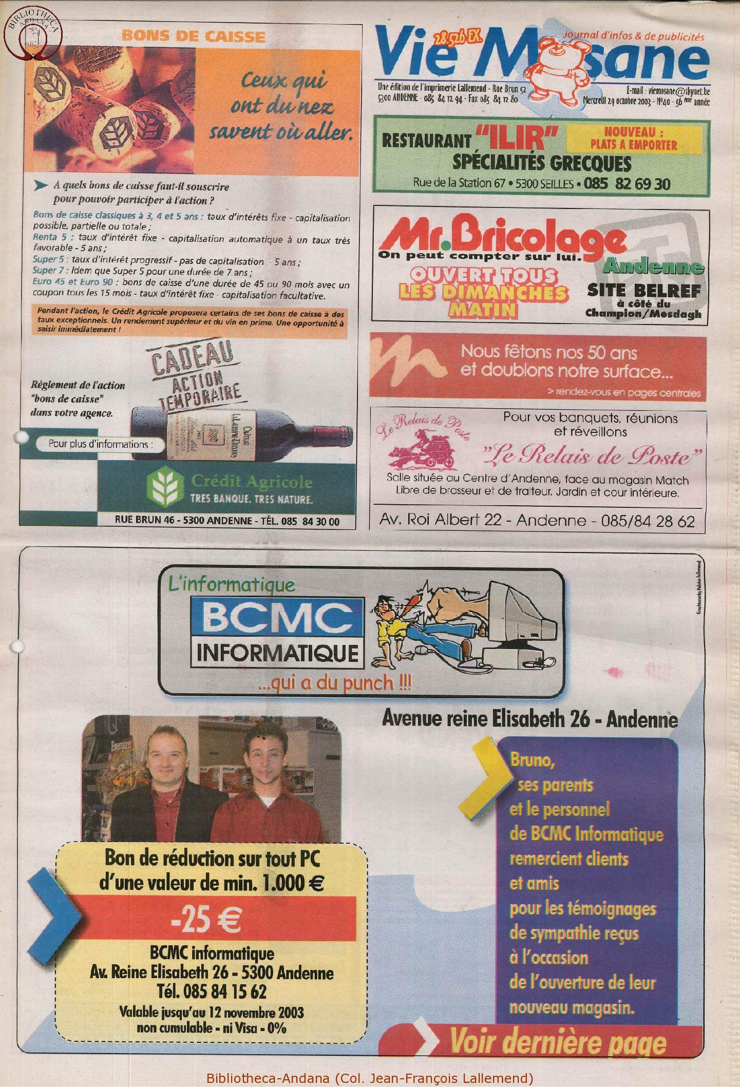 57e année - n°40 - 29 octobre 2003
