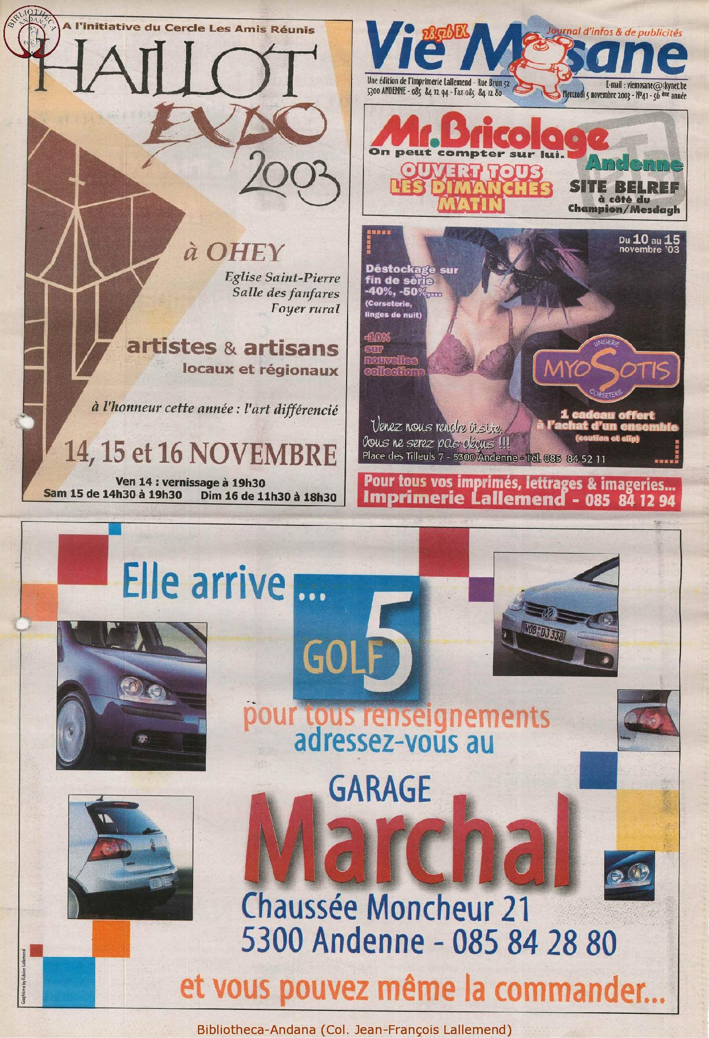 57e année - n°41 - 5 novembre 2003