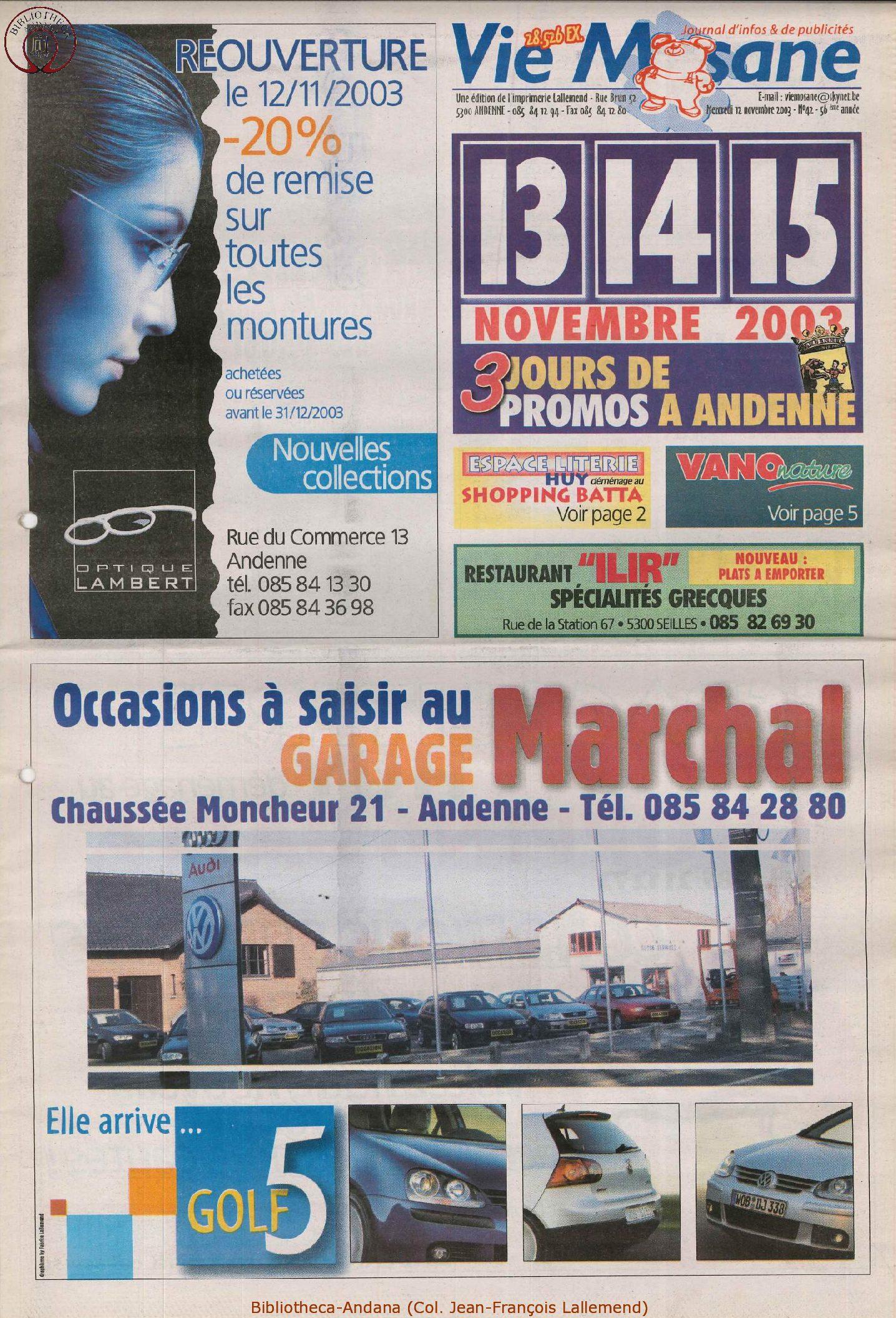 57e année - n°42 -12 novembre 2003