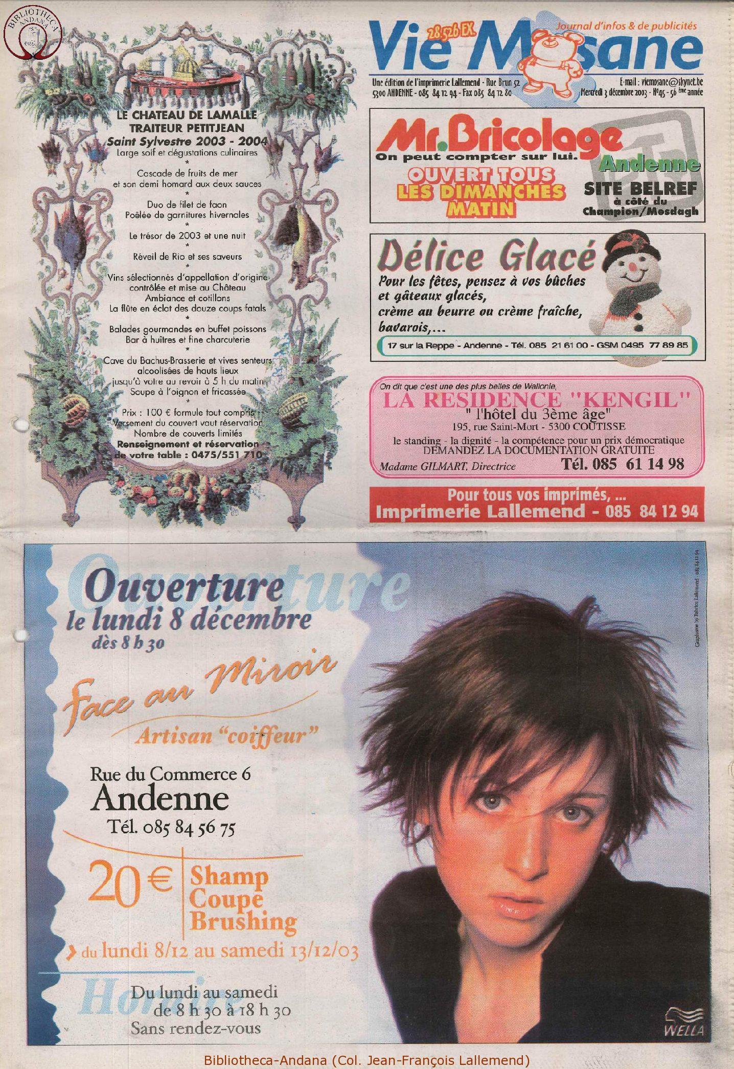 57e année - n°45 - 3 décembre 2003