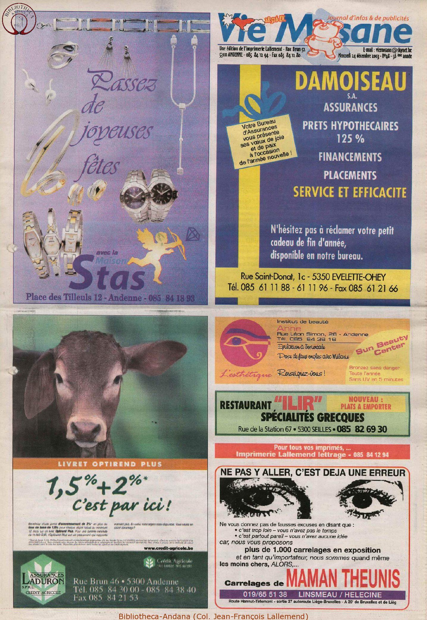 57e année - n°48 - 24 décembre 2003