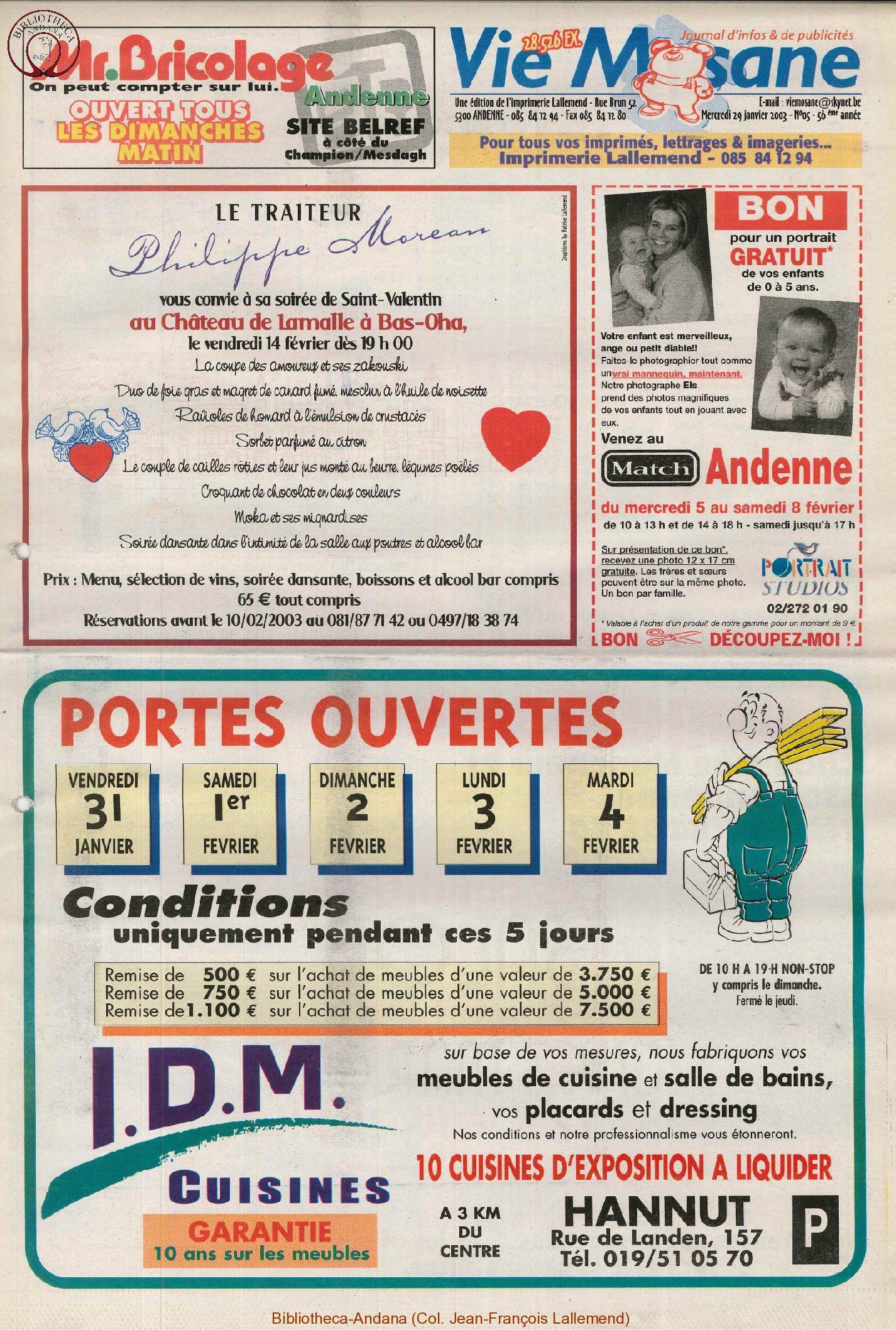 57e année - n°5 - 29 janvier 2003