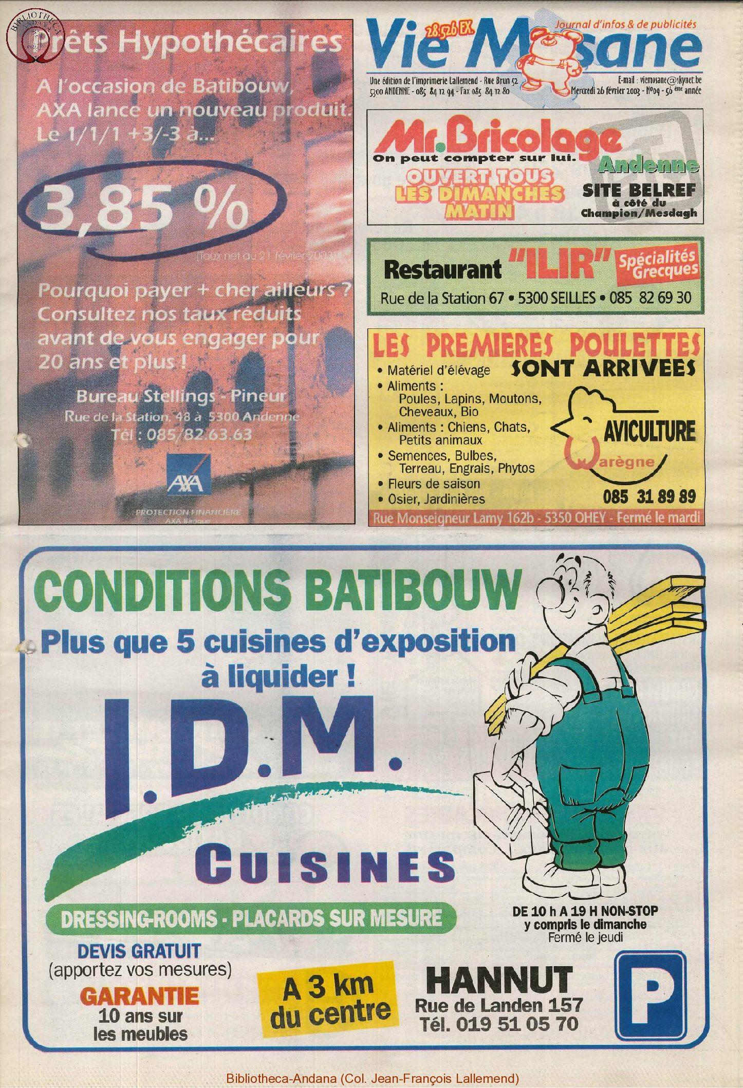 57e année - n°9 - 26 février 2003