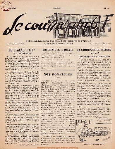 Le courrier du 6 F N°13 - juin 1947