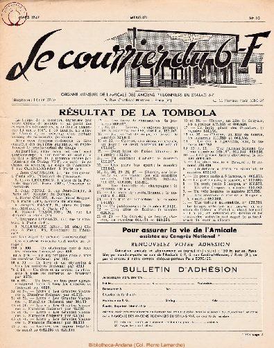 Le courrier du 6 F N°10 - mars 1946