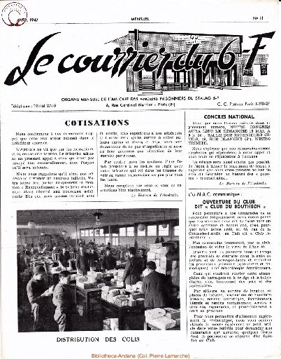 Le courrier du 6 F N°11 - avril 1947