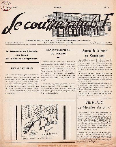 Le courrier du 6 F N°14 - juillet 1947