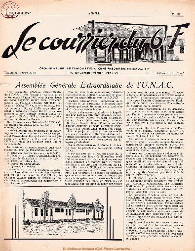 Le courrier du 6 F N°16 - septembre 1947