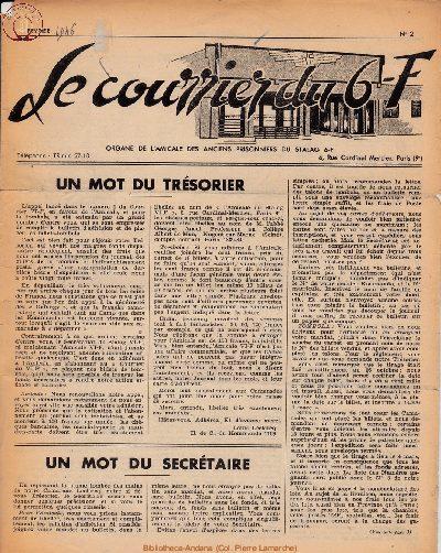 Le courrier du 6 F N°2 - février 1946