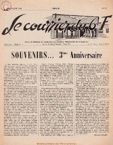 Le courrier du 6 F N°22 - juillet-août 1948