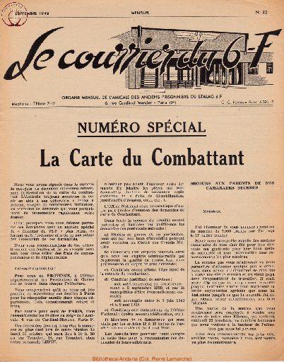 Le courrier du 6 F N°23 - septembre 1948