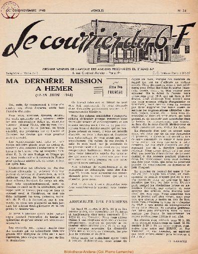 Le courrier du 6 F N°24 - octobre-novembre 1948