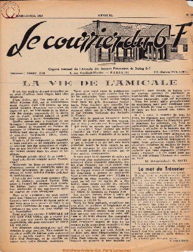 Le courrier du 6 F N°26 - mars-avril 1949
