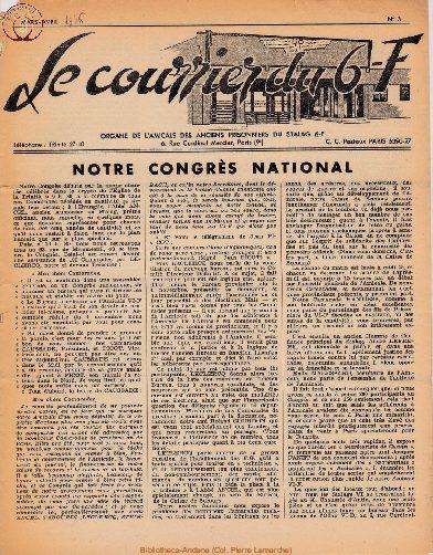 Le courrier du 6 F N°3 - mars-avril 1946