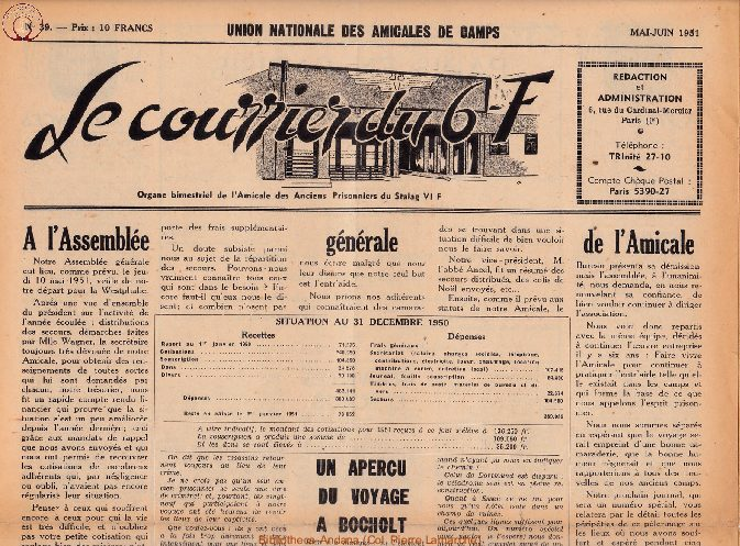 Le courrier du 6 F N°39 - mai-juin 1951