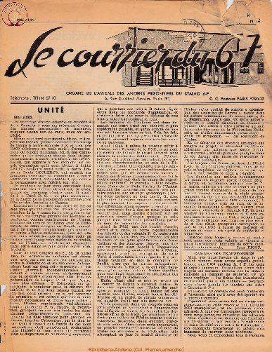 Le courrier du 6 F N°4 - mai-juin 1946
