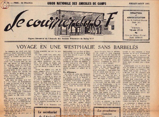 Le courrier du 6 F N°40 - juillet-août 1951