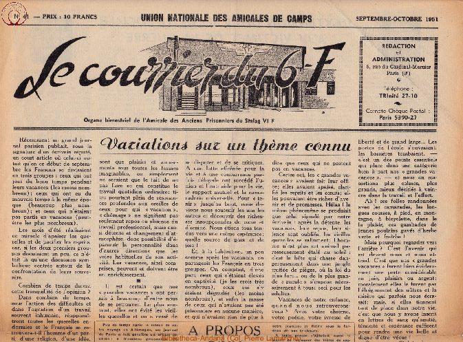 Le courrier du 6 F N°41 - septembre-octobre 1951