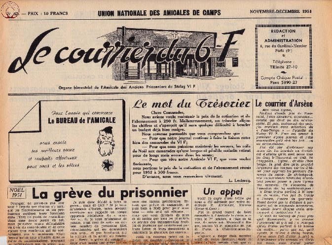 Le courrier du 6 F N°42 - novembre-décembre 1951