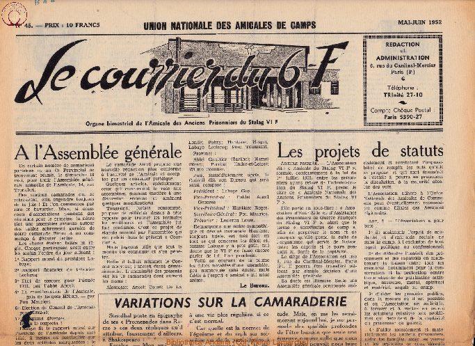 Le courrier du 6 F N°45 - mai-juin 1952