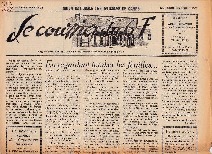 Le courrier du 6 F N°47 - septembre-octobre 1952