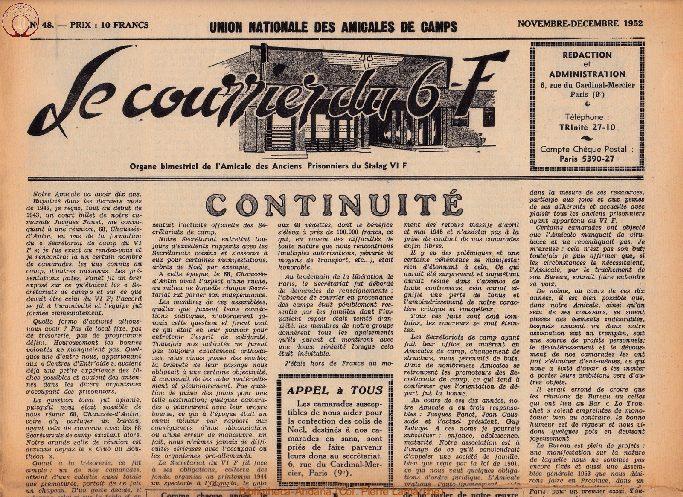 Le courrier du 6 F N°48 -  novembre-décembre 1952