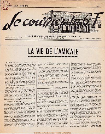 Le courrier du 6 F N°5 - juillet-août-septembre 1946