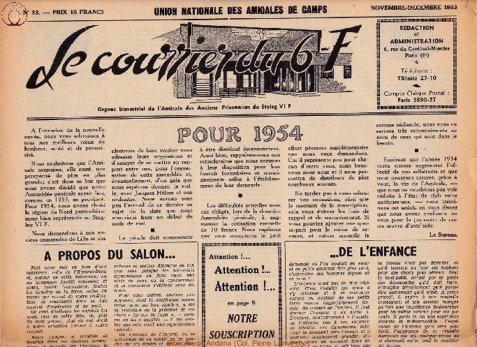 Le courrier du 6 F N°53 - novembre-décembre 1953