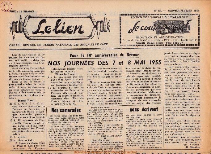 Le courrier du 6 F N°59 - janvier-février 1955