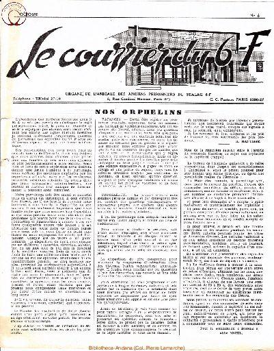 Le courrier du 6 F N°6 - octobre 1946