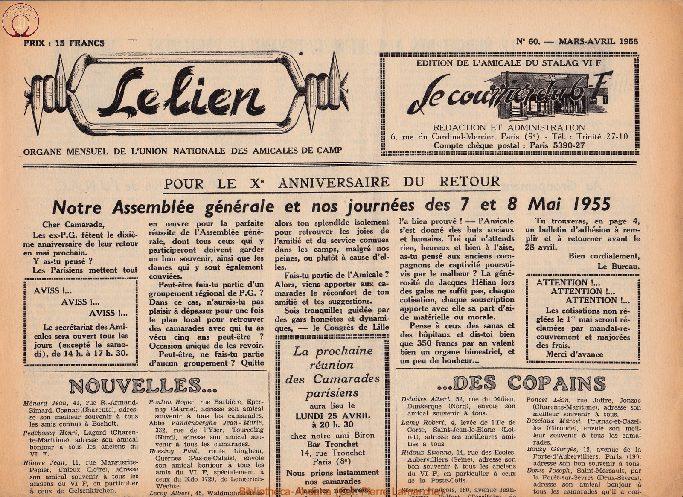 Le courrier du 6 F N°60 - mars-avril 1955