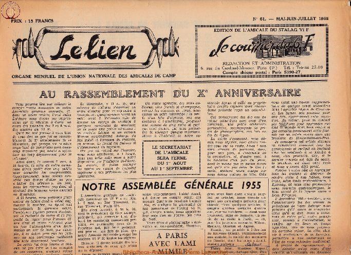 Le courrier du 6 F N°61 - mai-juin-juillet 1955