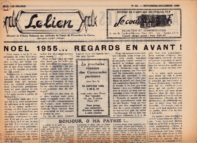 Le courrier du 6 F N°63 - novembre-décembre 1955