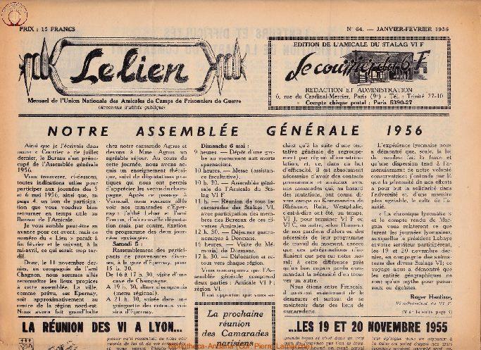 Le courrier du 6 F N°64 - janvier-février 1956