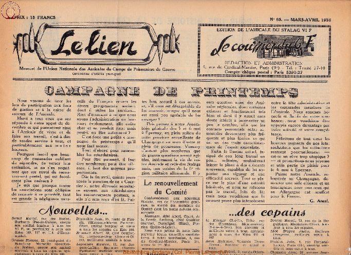Le courrier du 6 F N°65 - mars-avril 1956