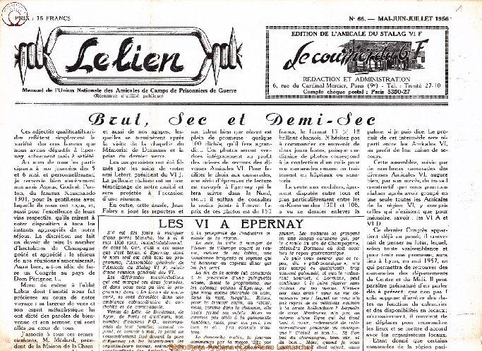Le courrier du 6 F N°66 - mai-juin-juillet 1956