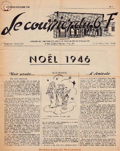 Le courrier du 6 F N°7 - novembre-décembre 1946
