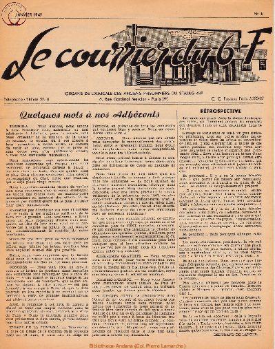 Le courrier du 6 F N°8 - janvier 1947