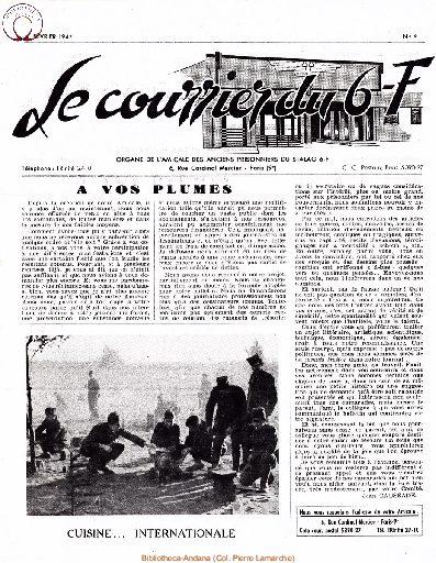 Le courrier du 6 F N°9 - février 1947