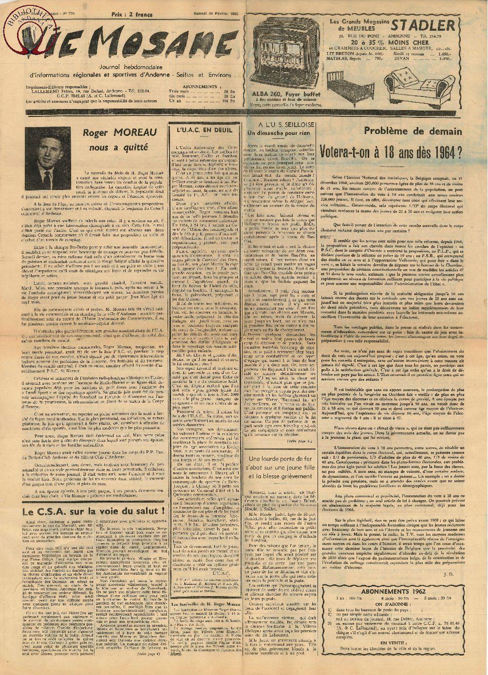 17e année - n°770 - 24 février 1962