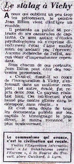Article sur Jean Billon