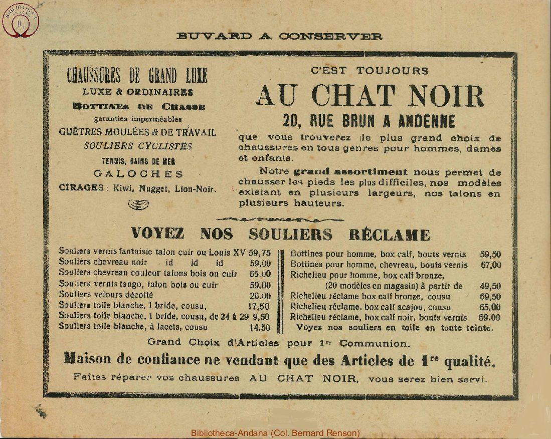 Buvard Au Chat Noir