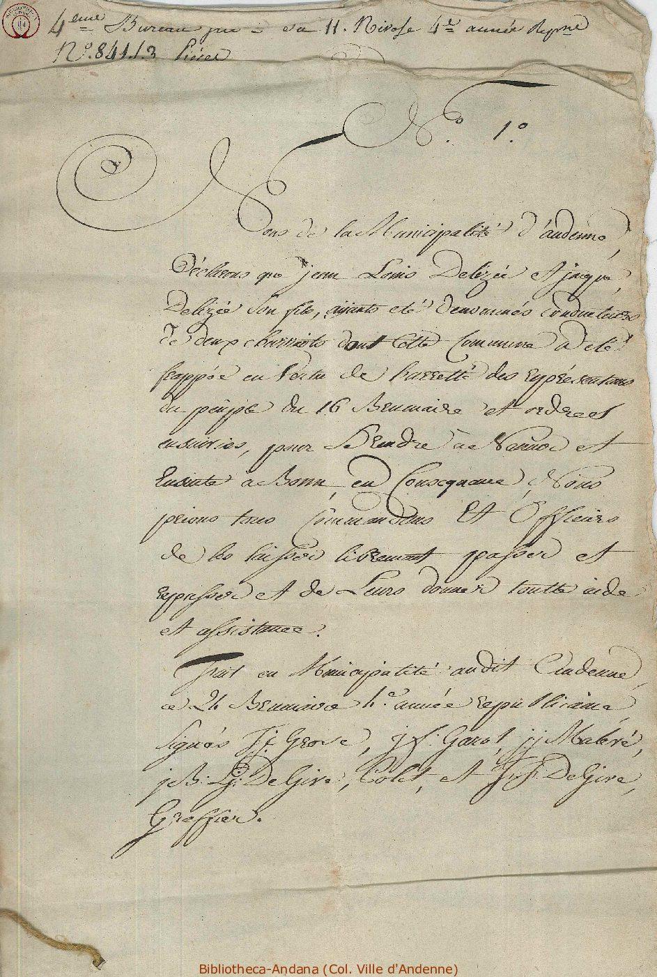 1796-01-01( 11nivôse 4)