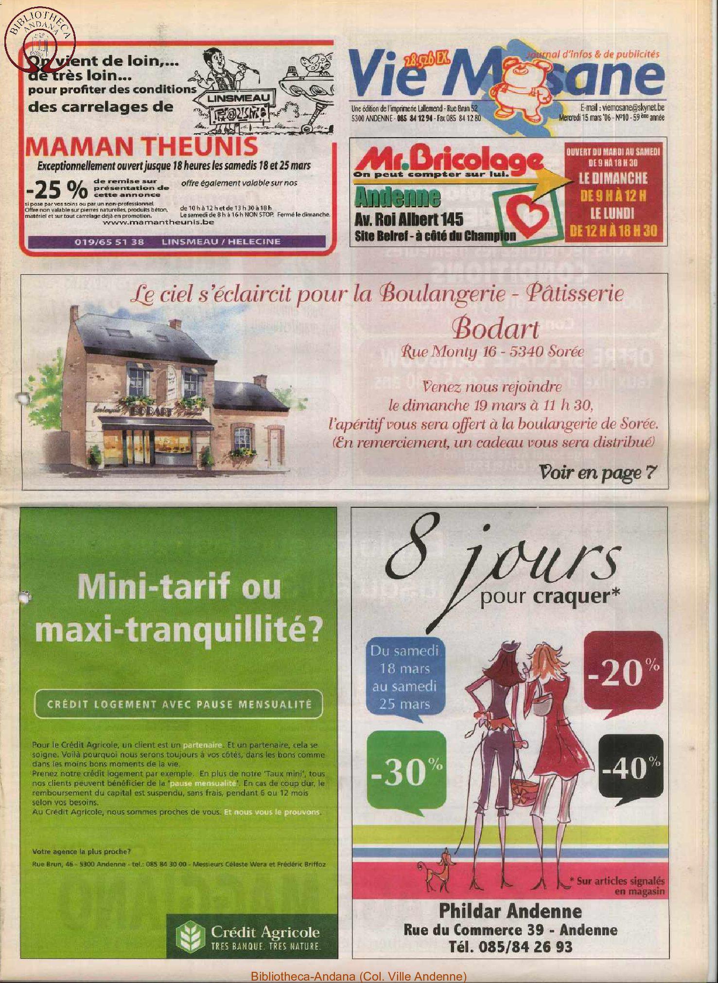 59e année - n°10 - 15 mars 2006