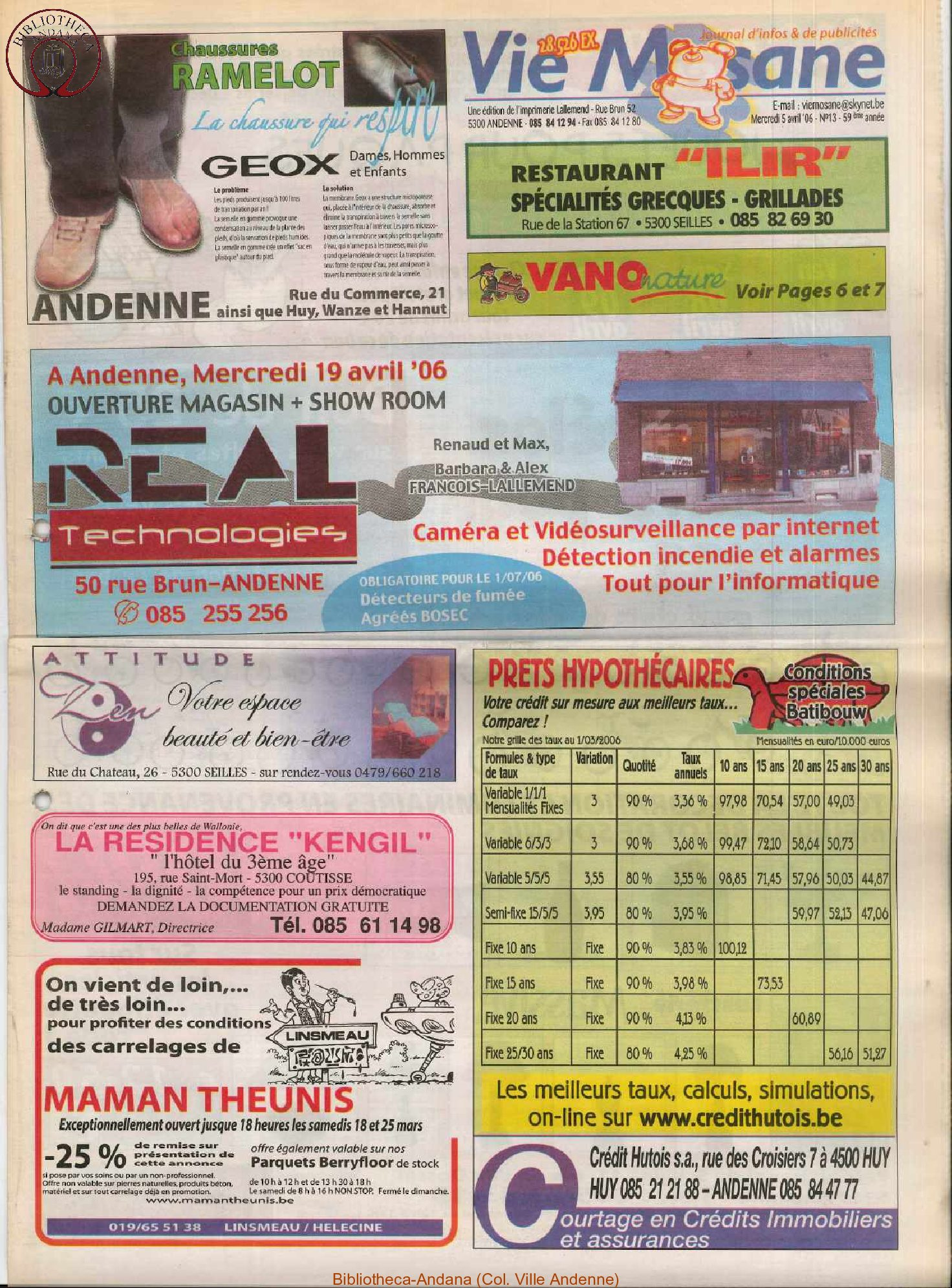 59e année - n°13 - 5 avril 2006