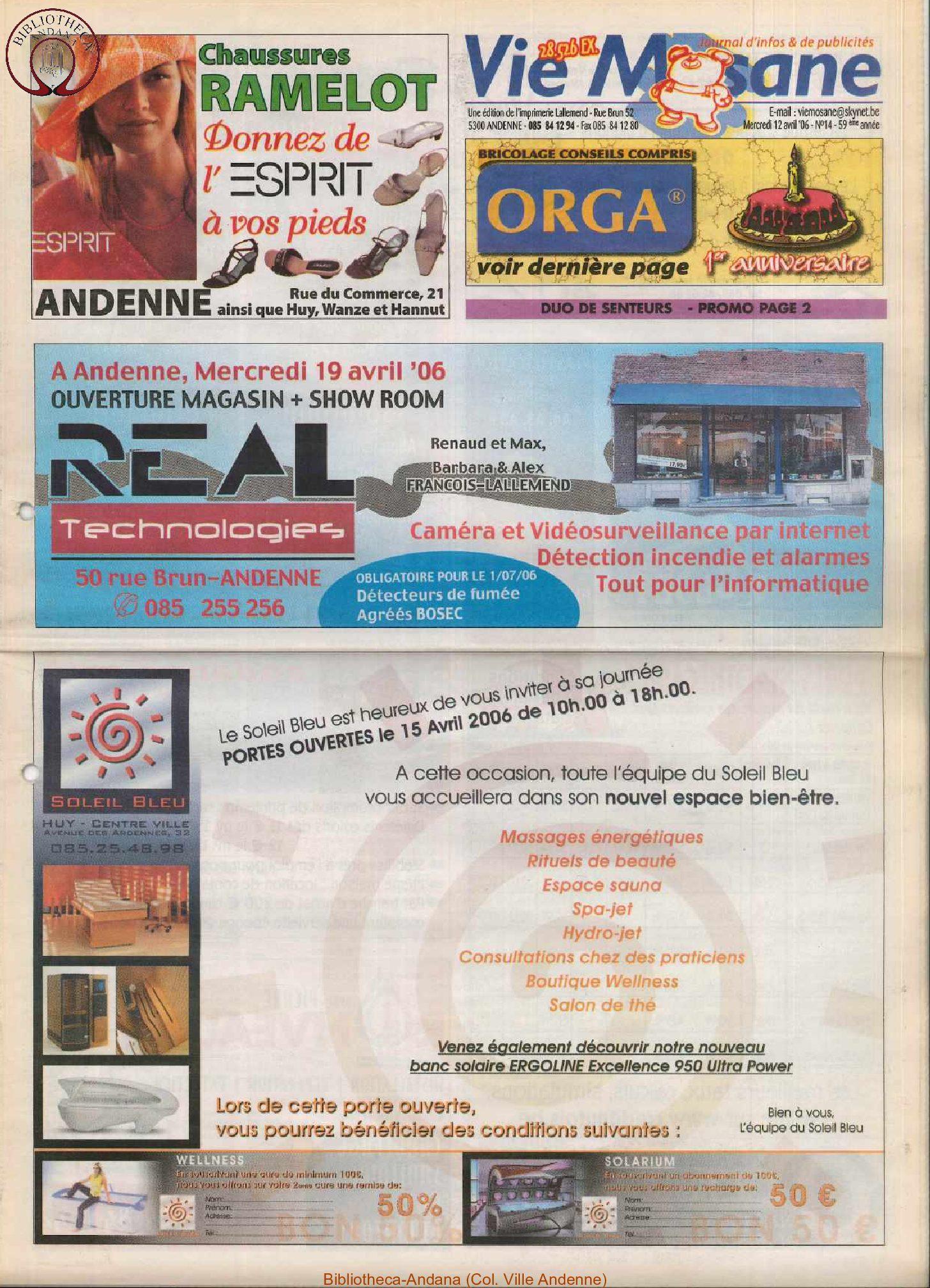 59e année - n°14 - 12 avril 2006